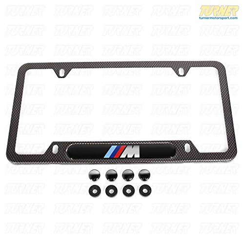 Bmw Carbon Fiber Look License Plate Frame With M Logo