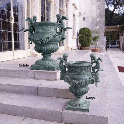 Design Toscano The Duval Double Cherub Lost Wax Bronze Garden Urn: (Cherub Urn)