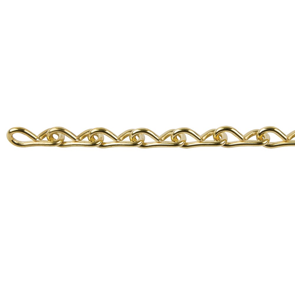 Perfection Chain Products 33301 #14 Single Jack Chain, Brass Brite, 10 FT Bag by Perfection Chain