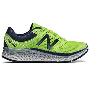 New Balance Women's Fresh Foam 1080v7 Running Shoe, Bleached Lime Glo/Vintage Indigo, 8 B US