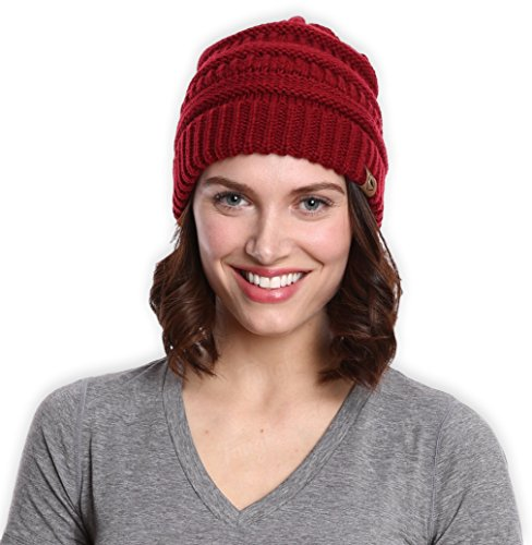 Chunky Cable Knit Beanie by Tough Headwear - Winter Beanie Hats for Warmth    Style - Perfect for Women   Men 1e226a3f22d