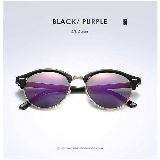 Yangjing-hl Polarizada Gafas de Sol Redondas para Mujer para ...