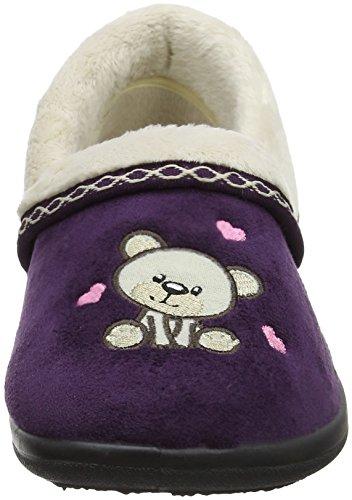 Femme Violet Bas Chaussons 95 Bleu purple Teddy Marine Padders Cxq1WafHwn