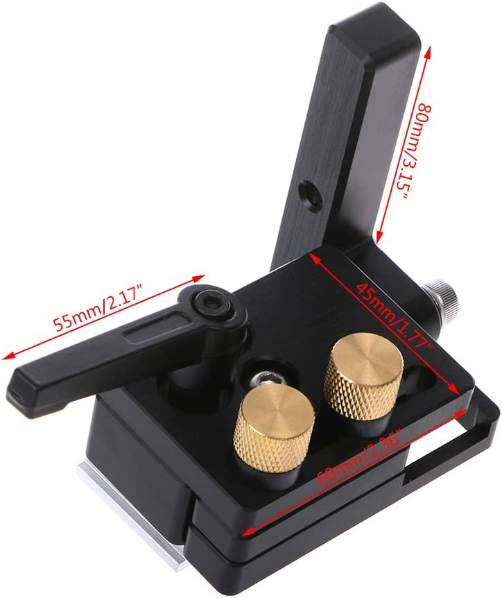 Rtengtunn DIY Woodworking Tools Miter Flip Track Stop For T-Slot 45mm T-Track With Adjustable Scale Manual Durable In Use