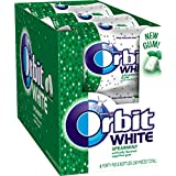 Orbit White Spearmint Sugar Free Chewing Gum, 40 Count (Pack of 6)