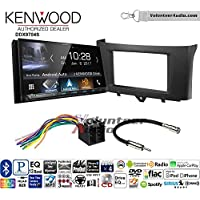 Volunteer Audio Kenwood DDX9704S Double Din Radio Install Kit with Apple Carplay Android Auto Fits 2011-2014 Smart Fortwo