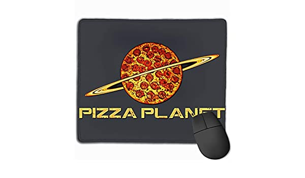 Amazon.com : Piz-za Pla-net Mouse Pad with Stitched Edges ...