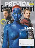 Entertainment Weekly April 18/25, 2014 Hugh Jakcman, Jennifer Lawrence, Michael Fassbender X-Men Days of Future Past