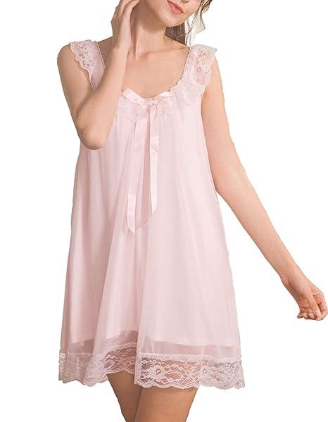0bbc23a2b45 Women Modal Negligee Babydoll Lingerie Night Dress Chemises V Neck  Sleepwear Nightgown Pink