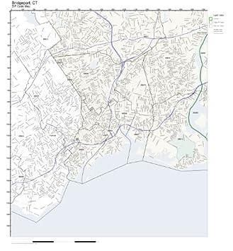 Amazon.com: ZIP Code Wall Map of Bridgeport, CT ZIP Code Map Not ...