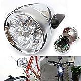 vintage bike light - BlueSunshine Vintage Retro Bicycle Bike Front Light Lamp 7 LED Fixie Headlight with Bracket