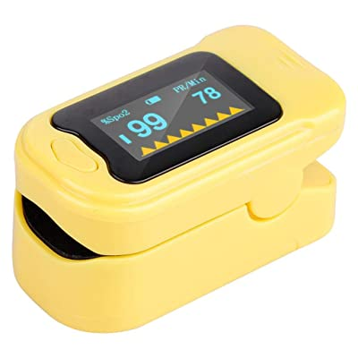 Yikey Fingertip Oxygen Monitor, Finger Oxygen Sensor Reader for Household LED Display (Yellow): Toys & Games