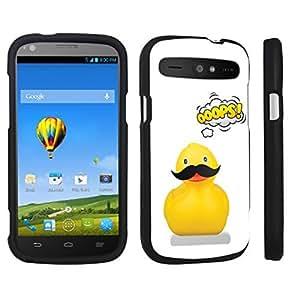 DuroCase ? ZTE Warp Sync N9515 Hard Case Black - (Mustache Ducky)