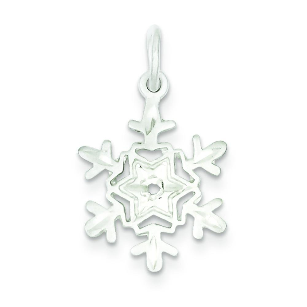 Sterling Silver Snowflake Charm Christmas FindingKing