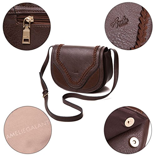 Weave for with Satchel Crossbody Shoulder Coffee Saddle Women Bags Bags Bags Tote wEqZzv5