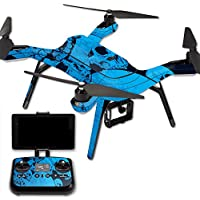 MightySkins Protective Vinyl Skin Decal for 3DR Solo Drone Quadcopter wrap cover sticker skins Blue Skulls