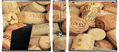 Price comparison product image Wine and Champagne Corks Pattern Background Xbox 360 Slim (2010) Vinyl Decal Sticker Skin by Moonlight Printing