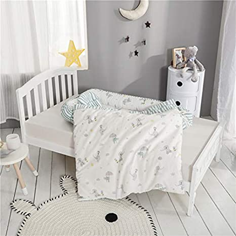 Xingouchen Baby Nest for Bedroom Baby Lounger for Bed,100/% Soft Cotton Cosleeping Baby Bed for Bedroom//Travel,Breathable and Hypoallergenic Newborn Baby Nest Green Elephant