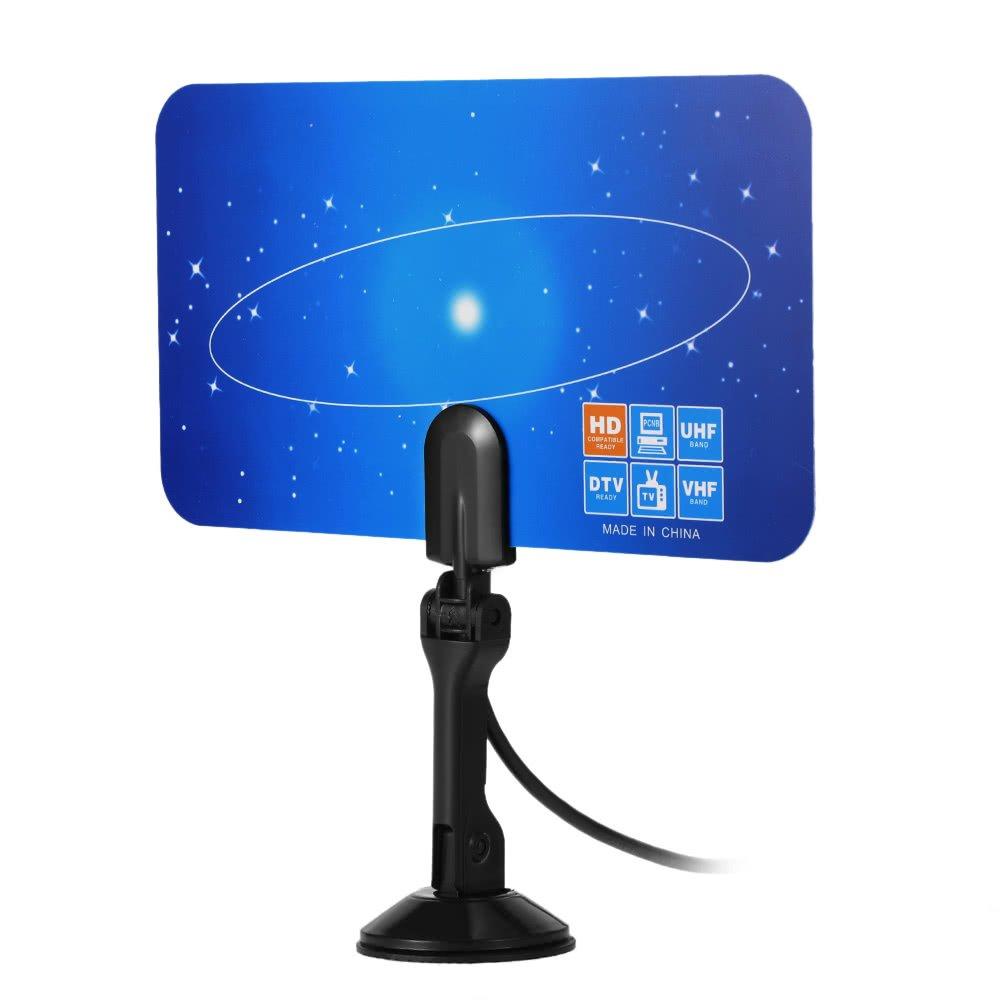 axGear HD TV Antenna Indoor Digital HDTV Signal VHF UHF Receiver Free to Air TV Flat ANT-385-F1