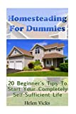img - for Homesteading For Dummies: 20 Beginner's Tips To Start Your Completely Self-Sufficient Life: (How to Build a Backyard Farm, Mini Farming Self-Sufficiency On 1/ 4 acre) book / textbook / text book