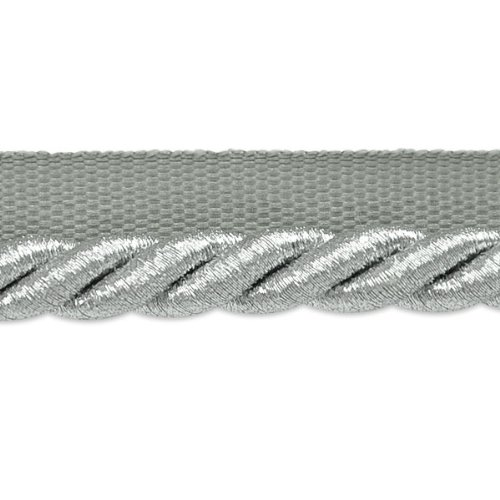 3/8 Twisted Trim Cord Lip (Expo International Nicholas 3/8-Inch Twisted Lip Cord Trim, 20-Yard, Metallic Silver)