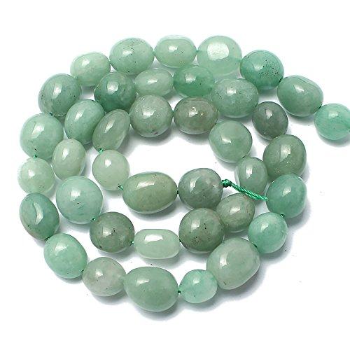 Love Beads Green Aventurine Stone Beads Irregular Loose Gemstone Beads 8-11mm for Jewelry Making
