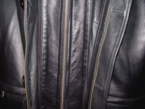Johnny 2001 Big Man Leather Jacket Business Clothing Coat Tall and All Size by Johnnyblue (Image #6)