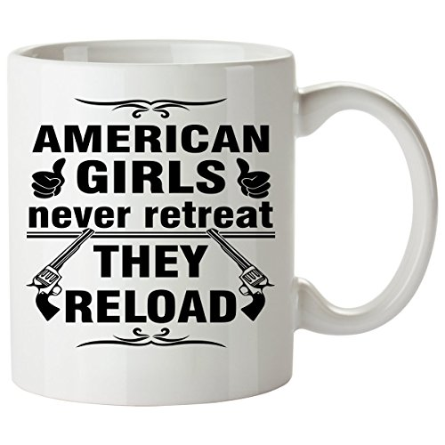 AMERICAN Coffee Mug 11 Oz - Good Gifts for Girls - Unique Coffee Cup - Decor Decal Souvenirs Memorabilia