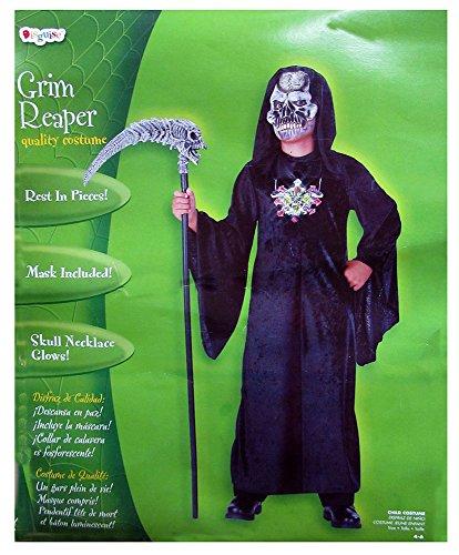 Grim Reaper Size S, 4-6 (Easy Grim Reaper Costume)