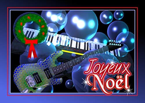 - Joyeux Noel French Guitar Keyboard Christmas Greeting Card 5