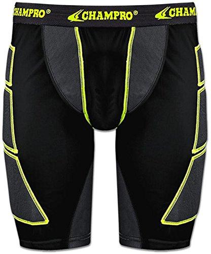 Champroスポーツ大人用on-deck野球Sliding Shorts B01BFNT67Sブラック L