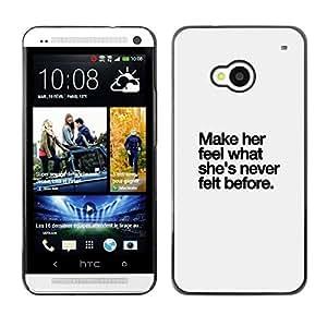 Be Good Phone Accessory // Dura Cáscara cubierta Protectora Caso Carcasa Funda de Protección para HTC One M7 // grey make her love quote inspiring