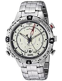 Timex Men's TW2R55500 Intelligent Quartz Tide Temp Compass Silver-Tone Stainless Steel Bracelet Watch