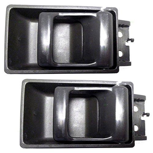 Pair of Inside Inner Gray Door Handle Replacement for Nissan Pickup Truck 8067055G03