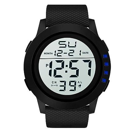 Longra❤ ❤ Hombres de Lujo analógico Digital Militar Deporte LED Impermeable Reloj de