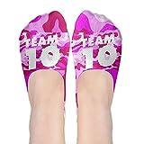 Team 10 Polyester Cotton Deodorant 3D Boat Socks Non Slip Socks For Women Girl