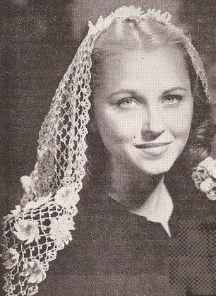 Amazon Vintage Crochet Pattern To Make Mantilla Fascinator