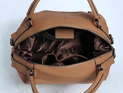 Fashion Satchel Shoulder Khaki Cross Iswee Ladies for Body Tote Women Bags Handbag Leather Bag Bag qwACpxntv