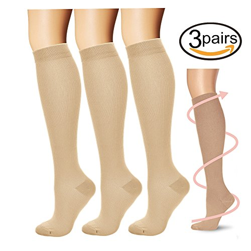 Compression Socks,(3 pairs) Compression Sock for Women & Men - Best For...