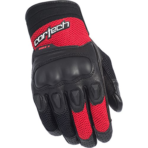 Cortech HDX 3 Adult Street Bike Motorcycle Gloves - Black/Red / Large -