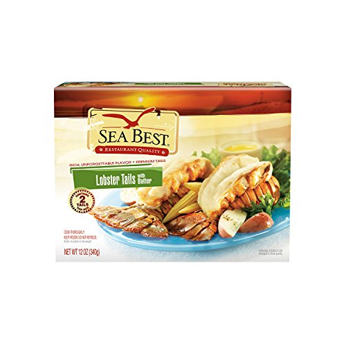 Sea Best Warm Water Lobster Tails with Butter, 12 Ounce