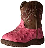 ROPER Girls' Annabelle Western Boot, Pink, 3 M US Infant