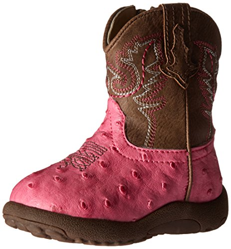 Roper Girls' Annabelle Western Boot, Pink, 1 M US Infant (Pink Boot Cowboy Girls)