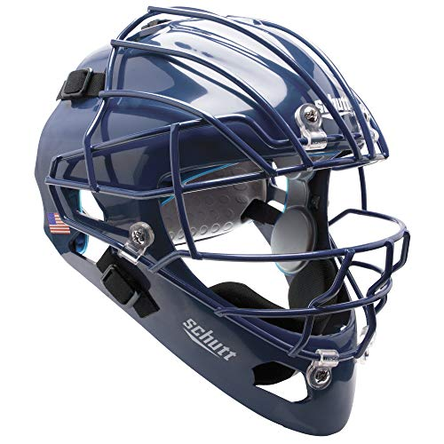 Schutt AiR MAXX Hockey-Style Catcher's Helmet with Facemask, Royal Blue, Extended OS Cage Face Mask