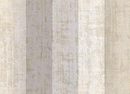 Carta Da Parati A Righe Beige : Carta da parati strisce grige avorio e beige effetto ricamato luce