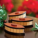 Bits and Pieces - Oval Trick Box - Wooden Puzzle Box - Wooden Brainteaser
