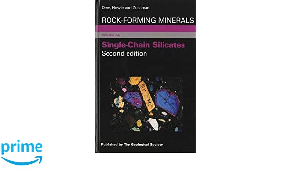 Rock-forming minerals single-chain silicates volume 2a