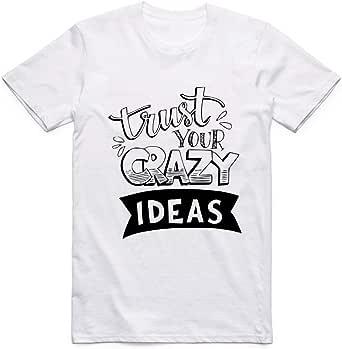 White Crazy Ideas T-Shirt For Men - size S