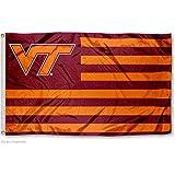 Virginia Tech Hokies Alumni Nation Stripes Flag