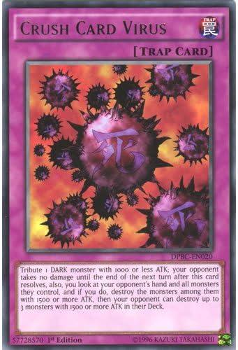 YuGiOh : DPBC-EN020 1st Ed Crush Card Virus Rare Card - (Battle City Duelist)  by Deckboosters: Amazon.es: Juguetes y juegos